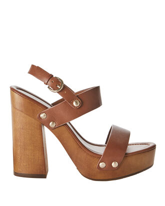 Dea Platform Sandals, BROWN, hi-res