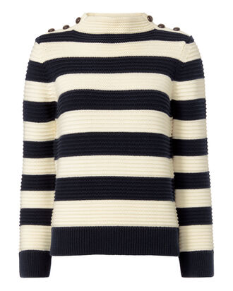 Magdalena Striped Cropped Sweater, STRIPE, hi-res