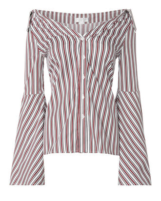 Striped Persephone Blouse, STRIPE, hi-res