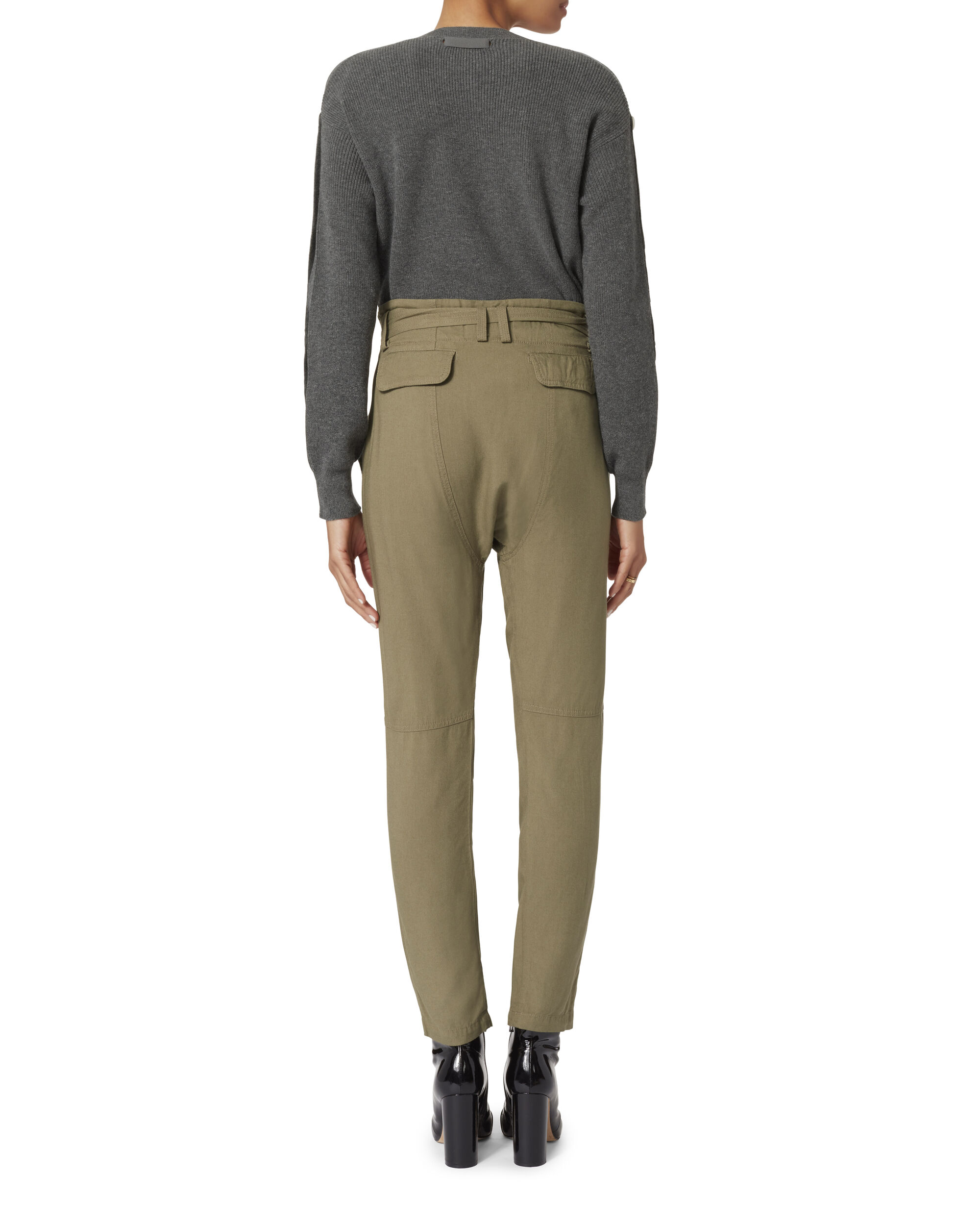 Ansel Belted Pants, OLIVE/ARMY, hi-res