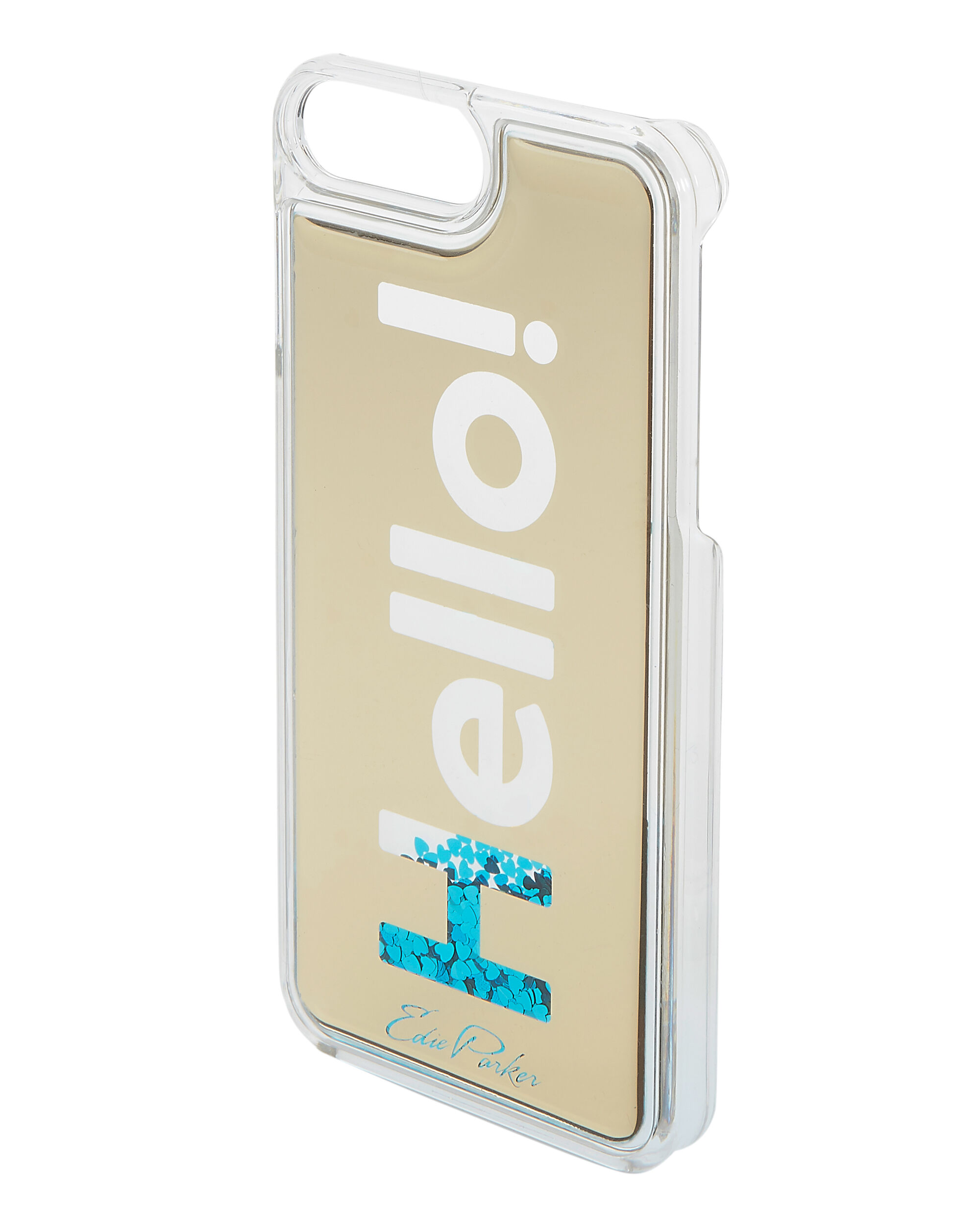 Blue Floating Hello iPhone 6 or 7 Case, METALLIC, hi-res