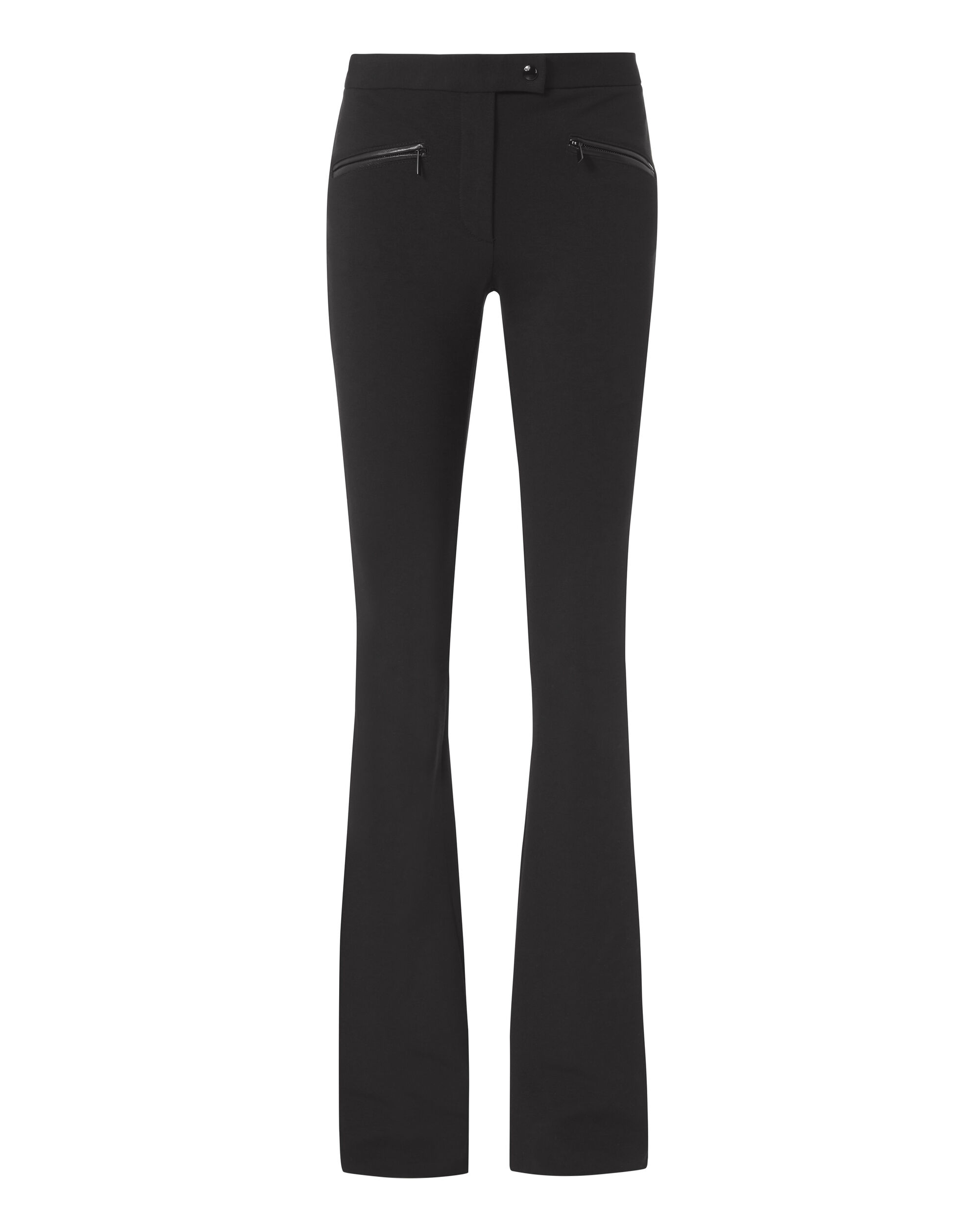 Black High-Rise Flare Pants, BLACK, hi-res