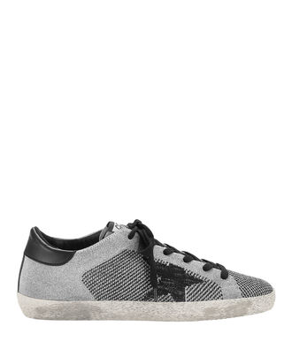 Superstar Lurex Knit Black Star Sneakers, METALLIC, hi-res