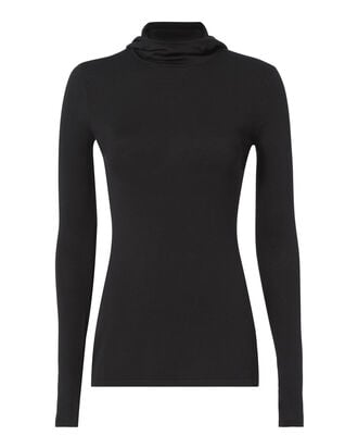 Pinacle Hooded Knit Top, BLACK, hi-res