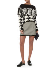 Houndstooth Mini Skirt, BLACK/WHITE, hi-res