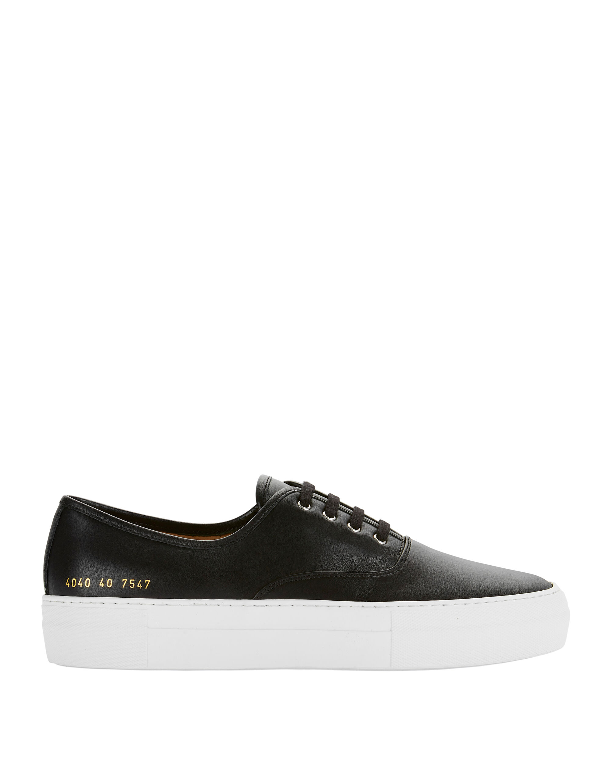 Tournament Low-Top Black Leather Sneakers, BLACK, hi-res