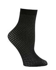 Metallic Double Net Socks, BLACK, hi-res