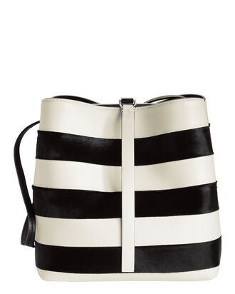Framed Stripe Shoulder Bag, WHITE, hi-res