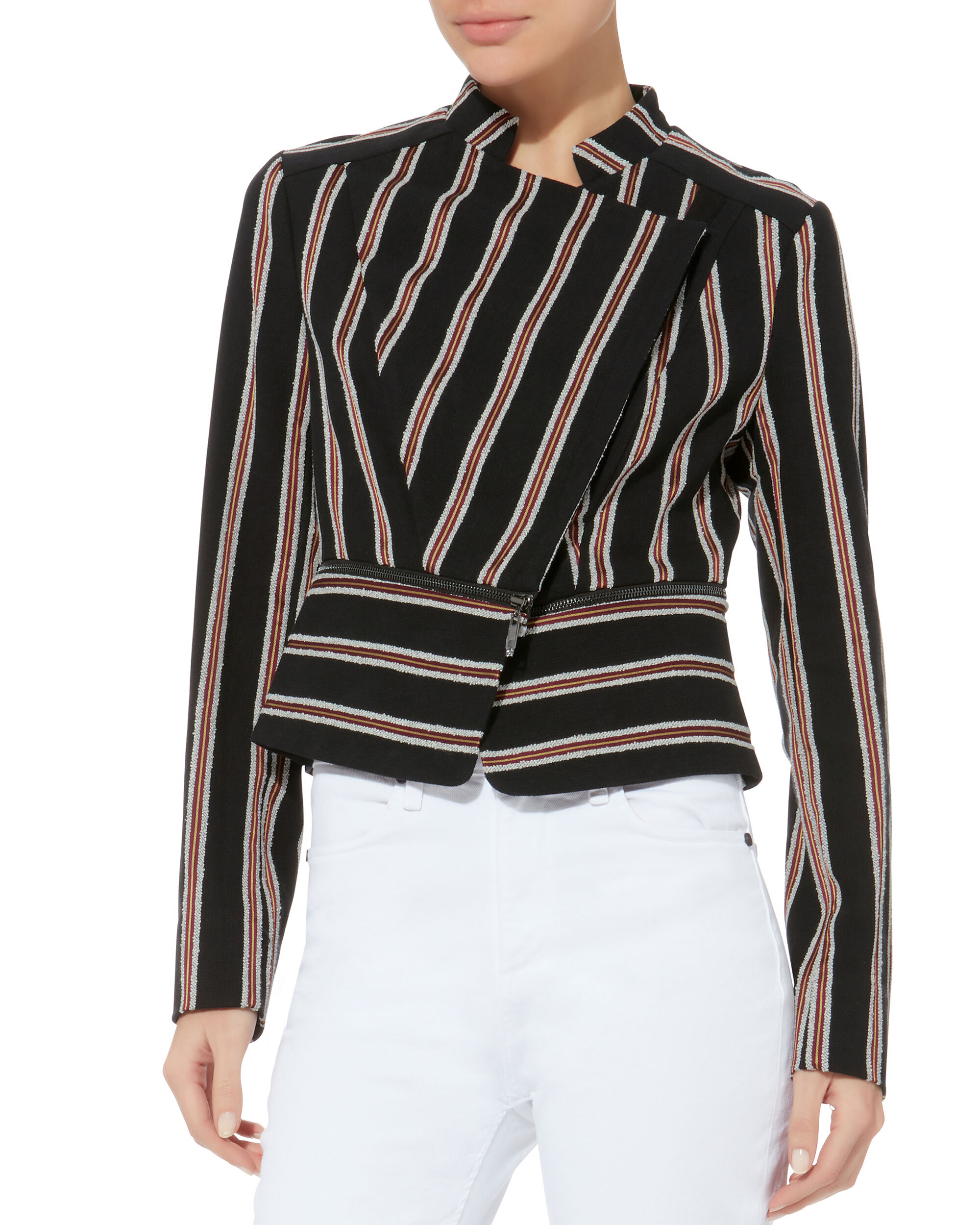 Lisa Striped Bouclé Jacket, BLACK, hi-res