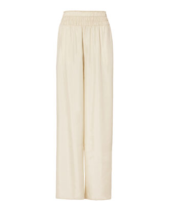 Elton Wide Leg Pants, WHITE, hi-res