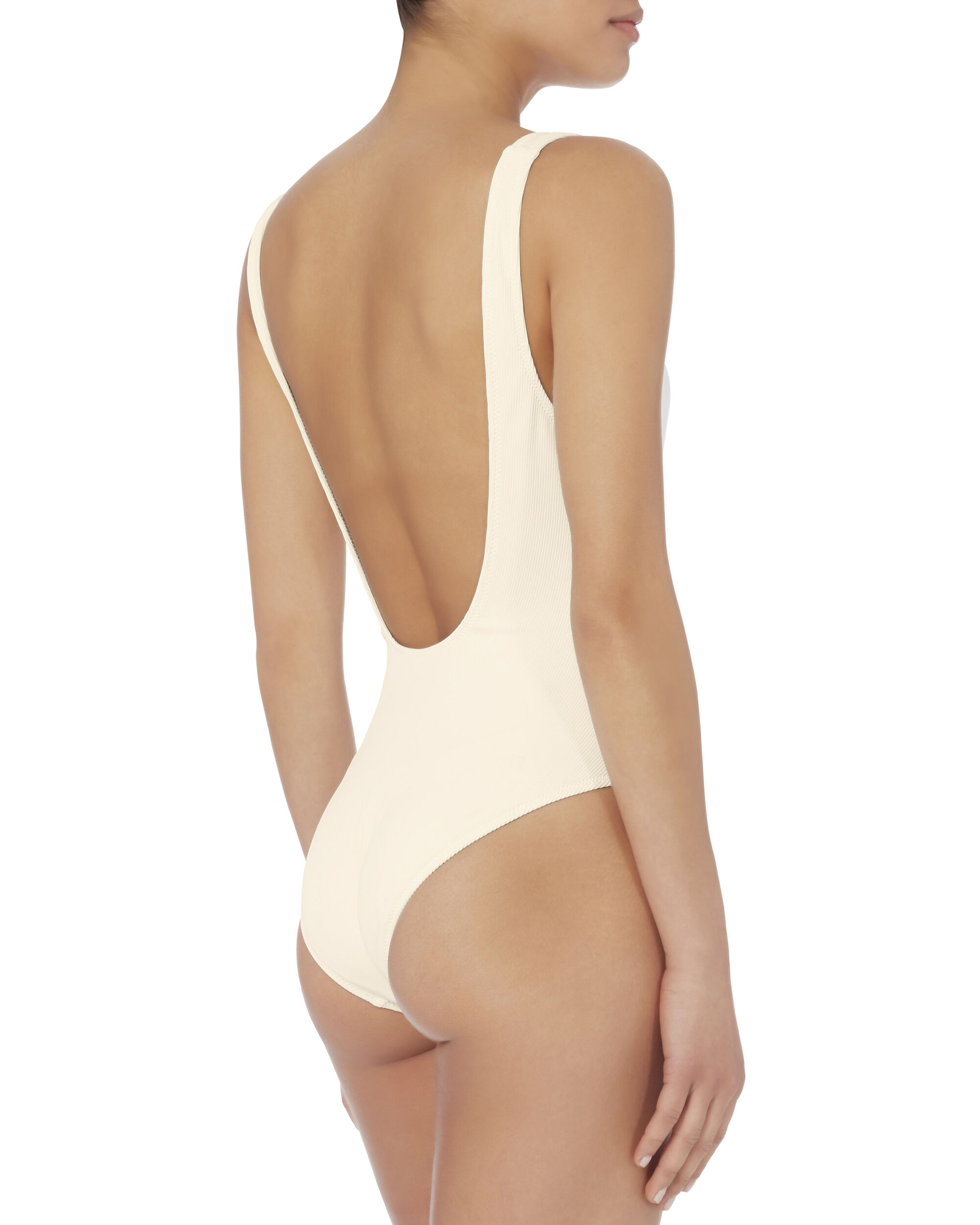 Sophia Lace-Up One Piece Swimsuit, IVORY, hi-res