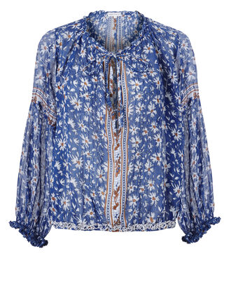 Dalia Printed Top, PRINT, hi-res