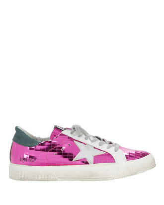 May Hot Pink Mirror Sneakers, PINK, hi-res
