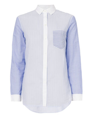 Annette Mixed Stripe Shirt, PATTERN, hi-res