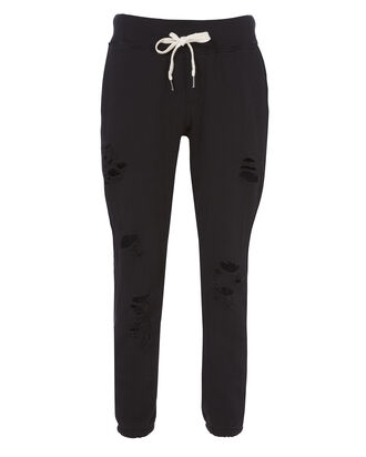 Ripped Sweatpants, BLACK, hi-res