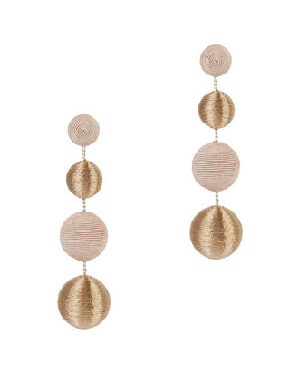 Blush And Gold Gumball Drop Earrings, BLUSH/NUDE, hi-res