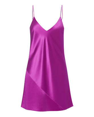 Raspberry Mini Slip Dress, PINK, hi-res