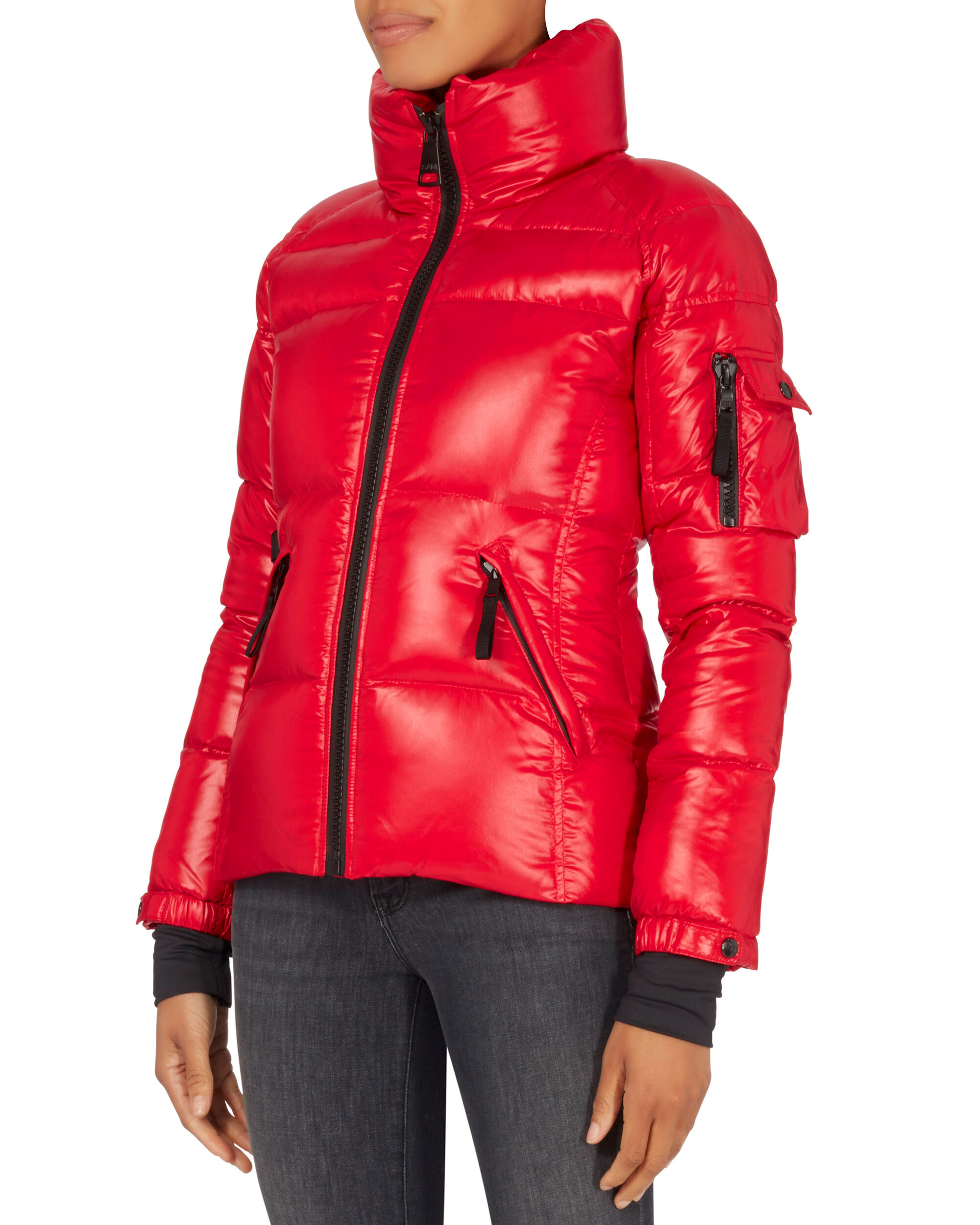 Candy Red Freestyle Puffer Jacket, RED, hi-res