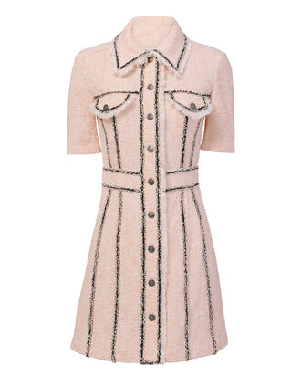 Azra Tweed Mini Dress, PINK, hi-res
