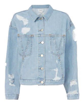 Polly Oversized Denim Jacket, DENIM, hi-res