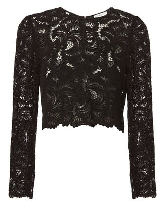 Talia Lace Top, BLACK, hi-res