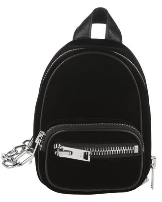 Mini Attica Velvet Backpack, BLACK, hi-res