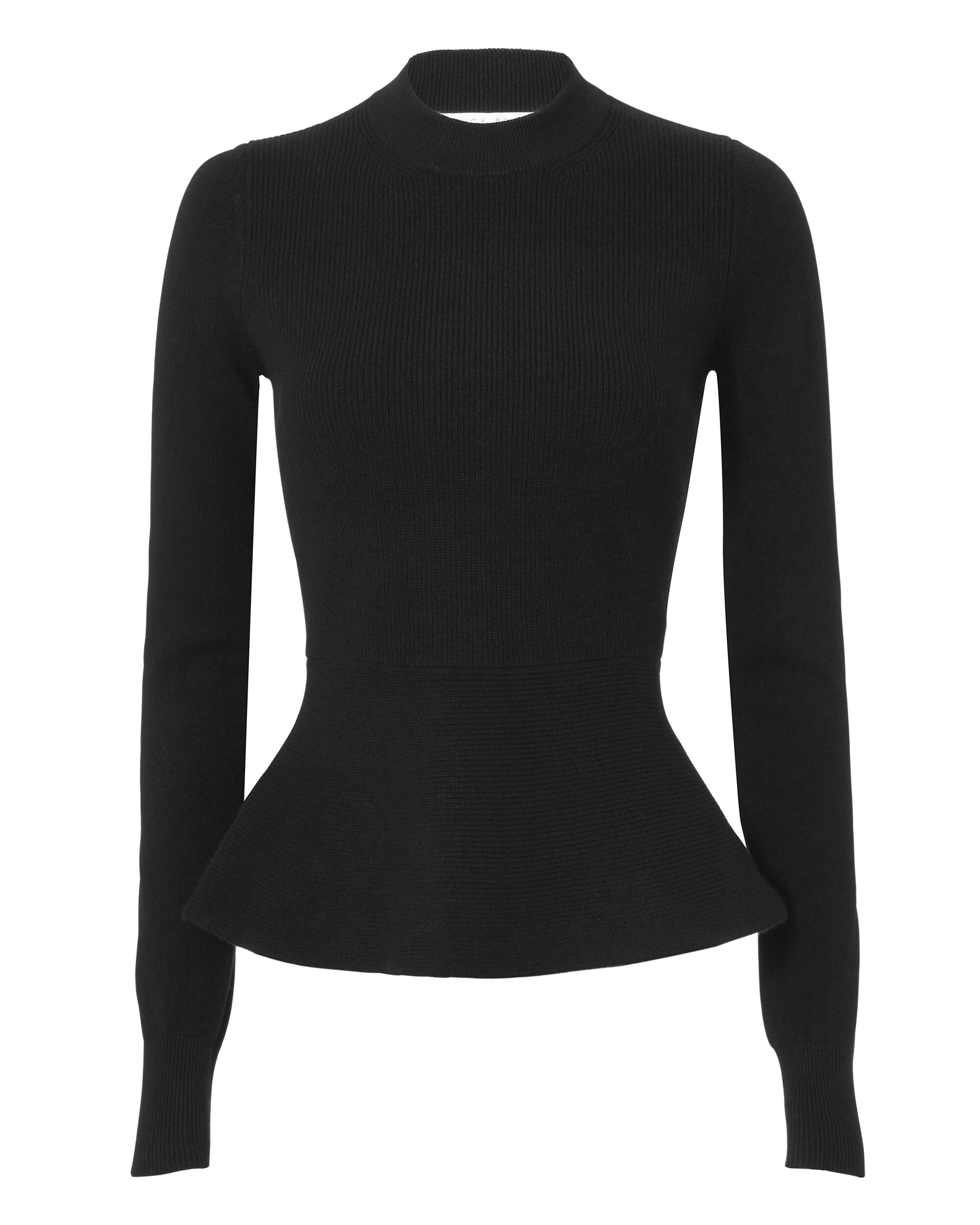 Raleigh Peplum Cashmere Sweater, BLACK, hi-res