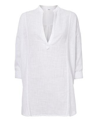 Cannes Long Sleeve Tunic, WHITE, hi-res