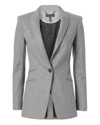 Duke Contrast Collar Blazer, GREY, hi-res