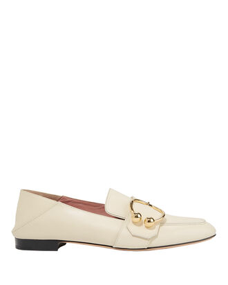 Malinda Buckle Loafers, IVORY, hi-res