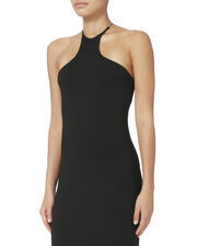 Black Razor Front Dress, BLACK, hi-res