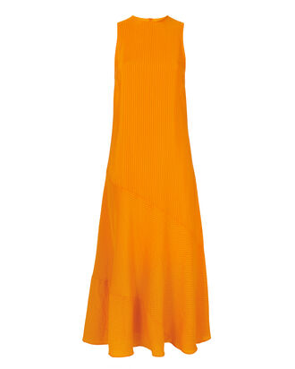 Wilkie Seersucker Turmeric Dress, ORANGE, hi-res
