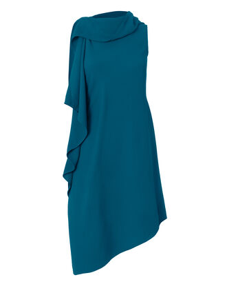 Arundel Textured Crepe Dress, BLUE, hi-res