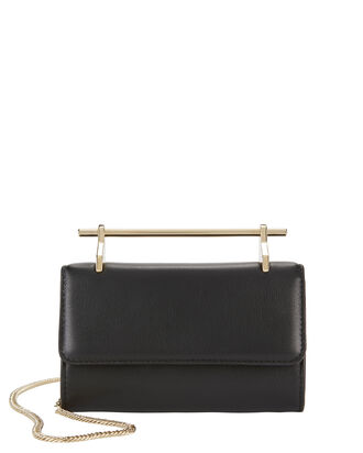 Fabricca Mini Leather Shoulder Bag, BLACK, hi-res