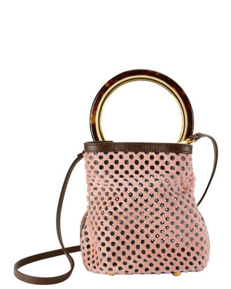 Mesh Bucket Bag, PINK, hi-res