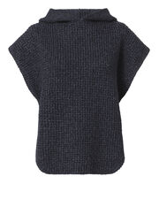 Hooded Cable Knit Pullover Sweater, , hi-res