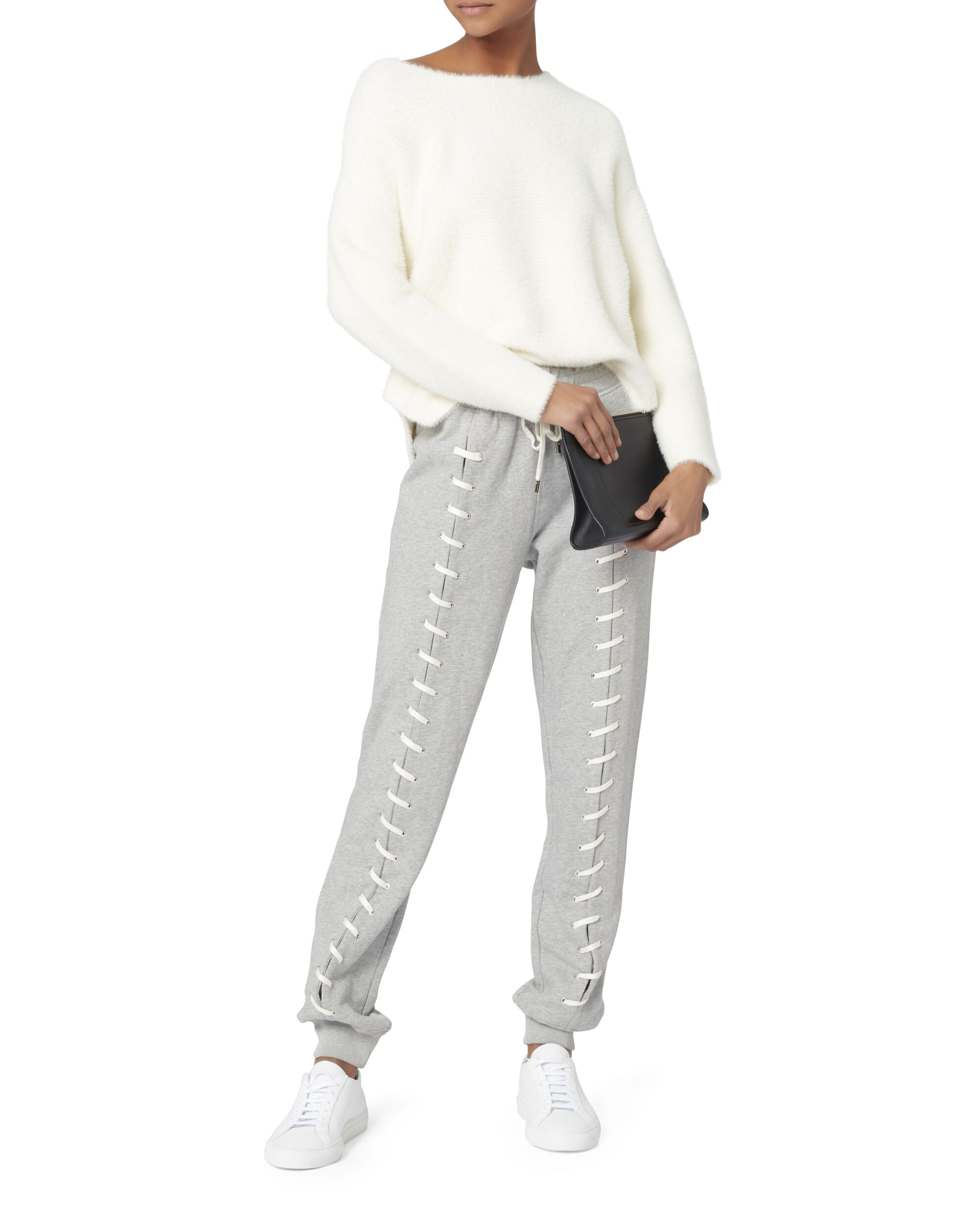 Whipstitch Sweatpants, GREY, hi-res