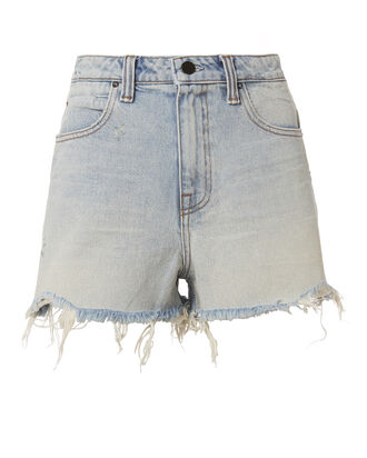 Bite Bleach Frayed Shorts, DENIM, hi-res