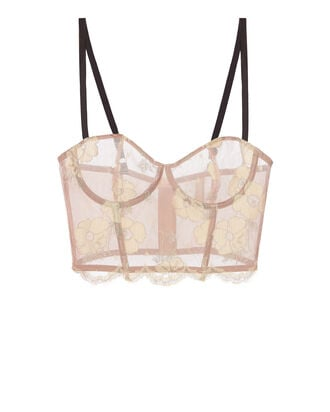 Poppy Lace Longline Bustier, BLUSH/NUDE, hi-res