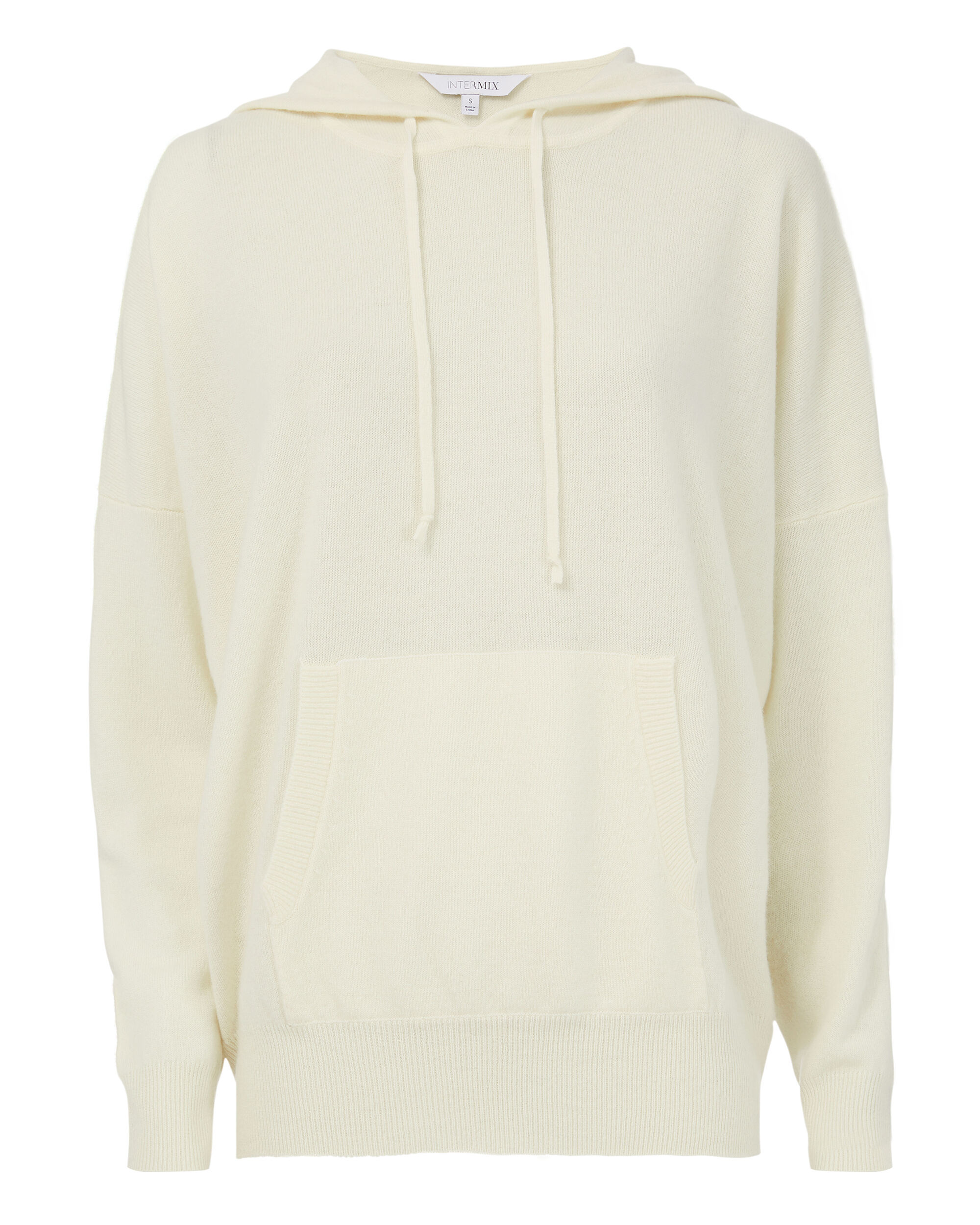 Kinsley Ivory Cashmere Hoodie, IVORY, hi-res