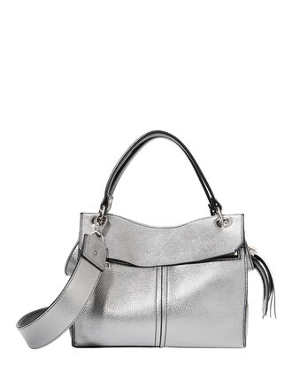 Curl Silver Shoulder Bag, METALLIC, hi-res