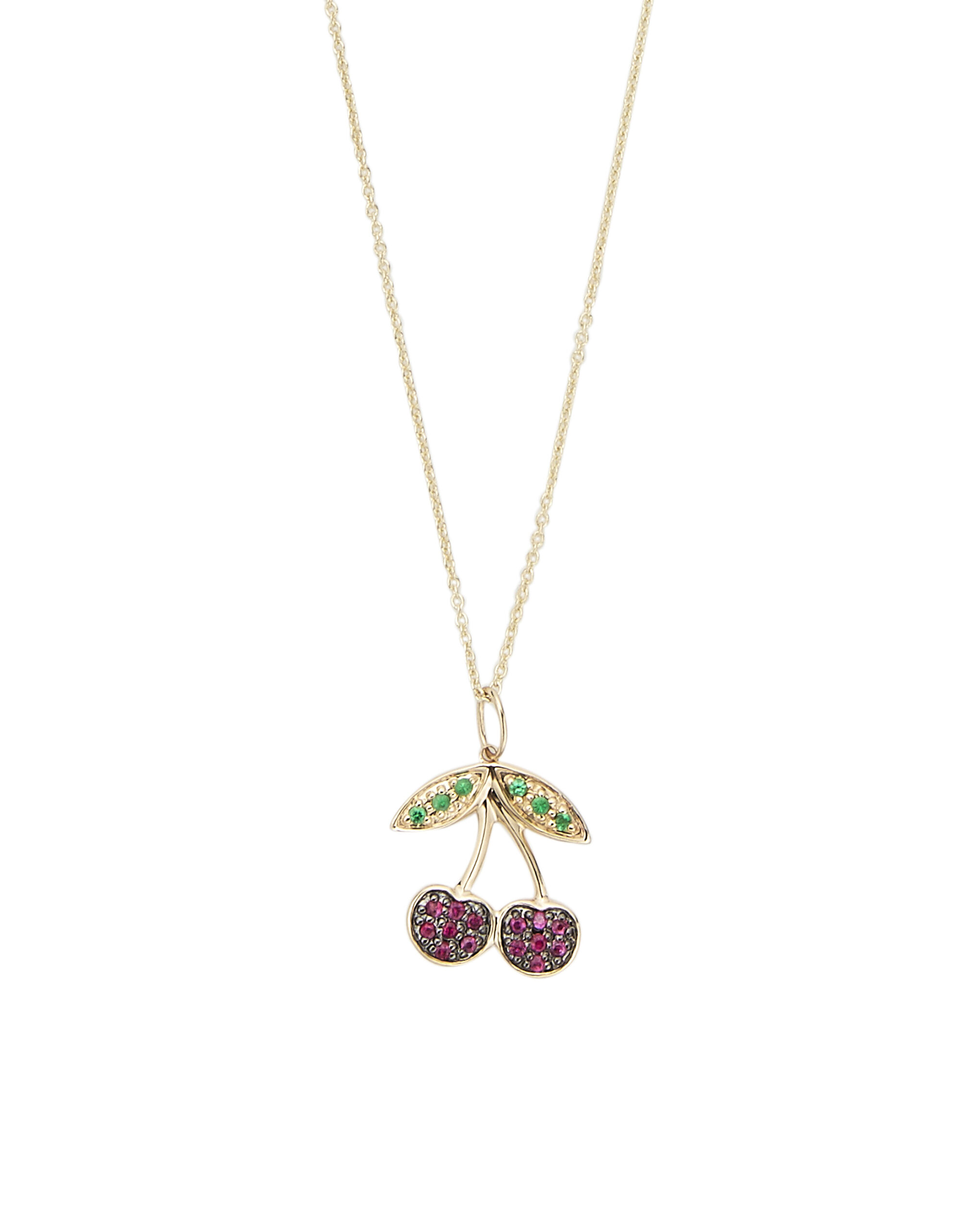 Cherry Diamond Necklace, METALLIC, hi-res