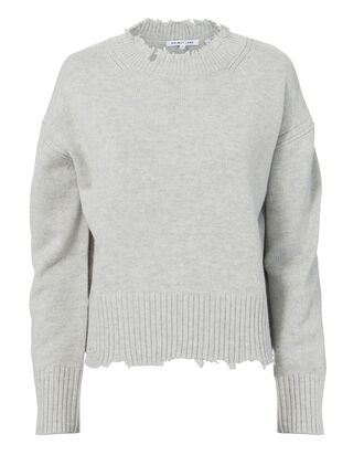Distressed Grey Sweater, GREY-LT, hi-res