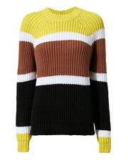 Colorblocked Sweater, YELLOW, hi-res