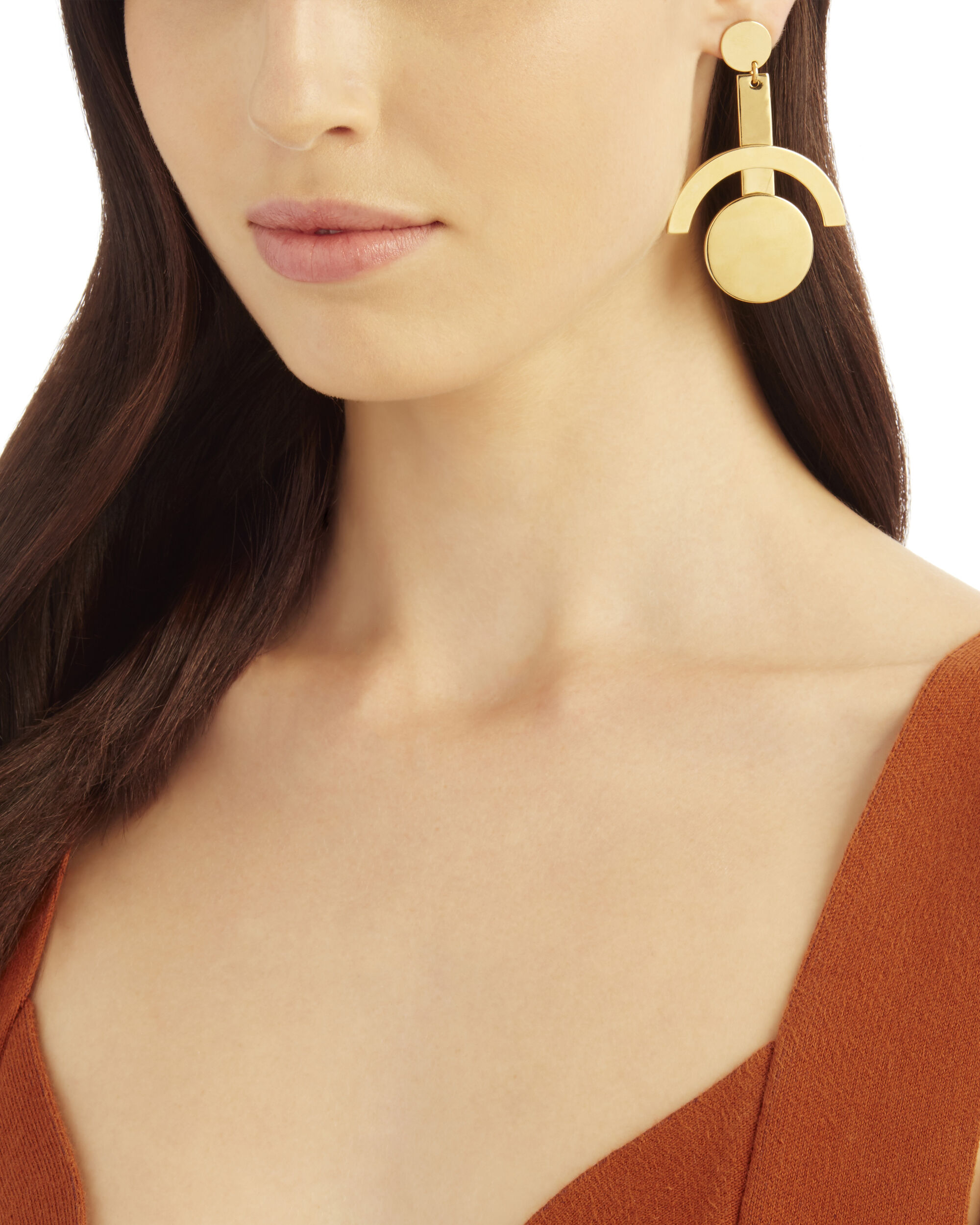 Telescope Earrings, GOLD, hi-res