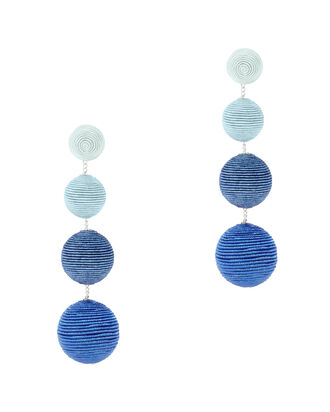 Blue Ombré Gumball Earrings, BLUE, hi-res