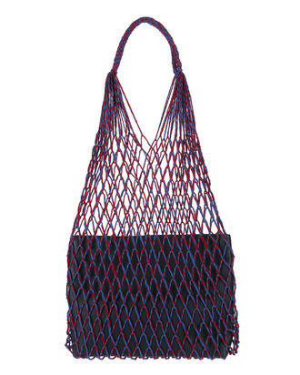 Adrienne Net Shoulder Bag, NAVY, hi-res