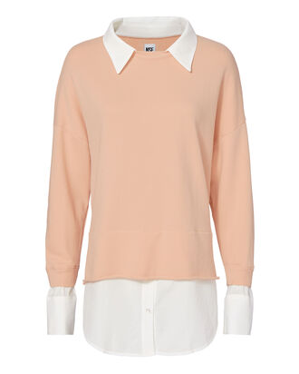 Twofer Sweatshirt, BLUSH, hi-res