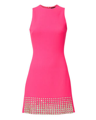 Crystal-Embellished Pink Dress, PINK, hi-res