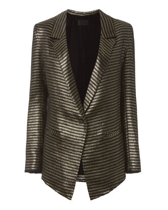 Iggy Metallic Stripe Blazer, PATTERN, hi-res
